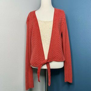 The Territory Ahead Coral Pink Cardigan Sweater Si